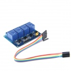 4 Channel 5V Relay Module w/ Female to Female DuPont Cable - Blue