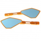 CNC QC-088 DIY Universal Aluminum Alloy Motorcycle Rear Rearview Mirrors - Golden (Pair)