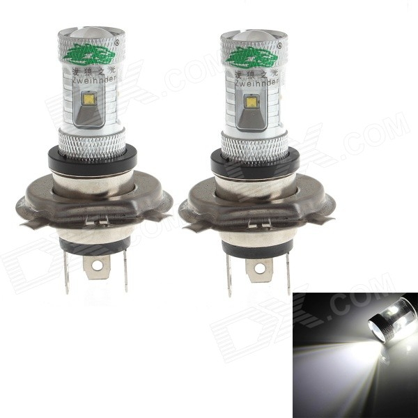 Zweihnder H4 30W 2800lm 6000-6500K 6-LED White Light Bulb for Car Fog Lamp (12-24V / 2PCS)
