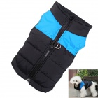 Water-resistant Quilted Padded Warm Winter Coat Jacket for Pet Dog - Blue + Black (Size XS)