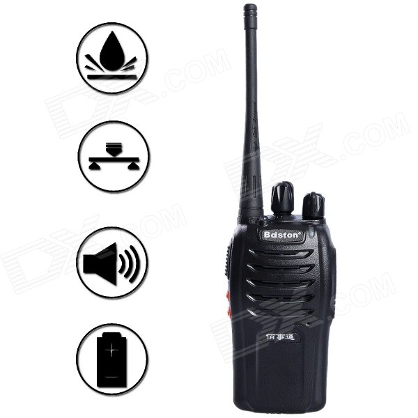 Baiston BST-698 16-CH 5W 400~470MHz Professional Walkie Talkie w/ Earphone - Black