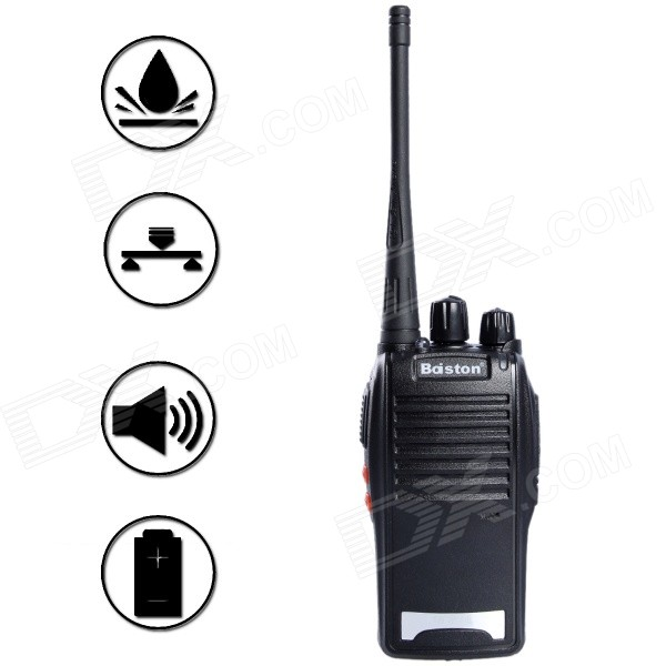 Baiston BST-688 16-CH 5W 400~470MHz Professional Walkie Talkie w/ Earphone - Black