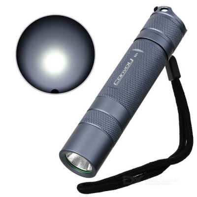 Convoy S2+ 860lm 2-Group 3/5-Mode White LED Flashlight w/ Cree XM-L2 U2-1A - Grey (1 x 18650)