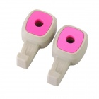 Car Headrest Pole Mounted Hook - Grey + Pink (Pair)