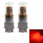 Zweihnder 3157 20W 1700lm 700-735nm 4-LED Red Light Bulb for Car Brake Light (12-24V / 2PCS)