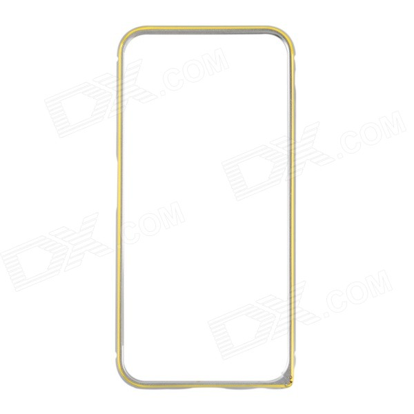 Ultra-Slim Aluminum Alloy Bumper Frame Case for IPHONE 6 4.7 - Silver + Gold nillkin gothic series ultra slim aluminum alloy bumper frame case for iphone 6 silver