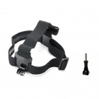 J109 Head Mount Strap + Long Screw for GoPro Hero 3+ / 3 / 2 / 4 / SJ4000 / SJ5000 - Black