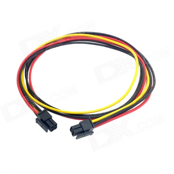 CY PW-071 ATX Molex Micro Fit Connector 4-Pin Male to Male Power Cable (60cm) speakon connector neutrik type nl4fx 4 pole plug male speaker audio 4 pin connector led connector