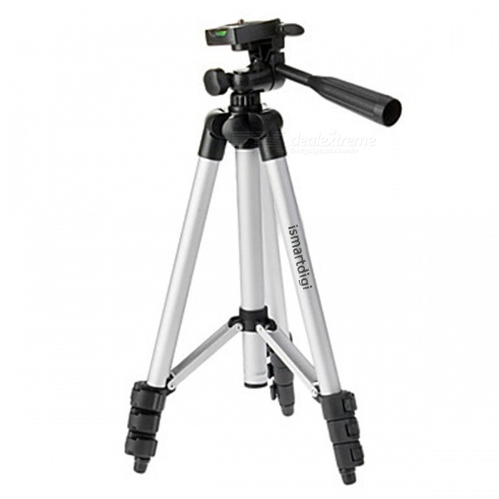 WDX2 Universal Aluminum Portable Retractable Tripod for SLR / Digital Camera - Silver (1002mm)  цена
