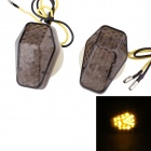 MZ 0.5W 120lm 15-LED Yellow Light Motorcycle Steering Lamp for SUZUKI - White + Brown (2 PCS / 12V)