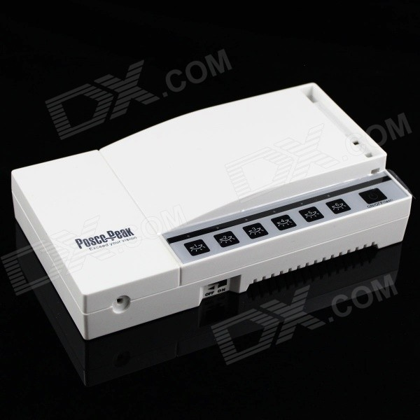 Y-Z1 6 x 1000W 6-CH Touch Center Console Timing RF Remote Control Switch - White (200~240V)