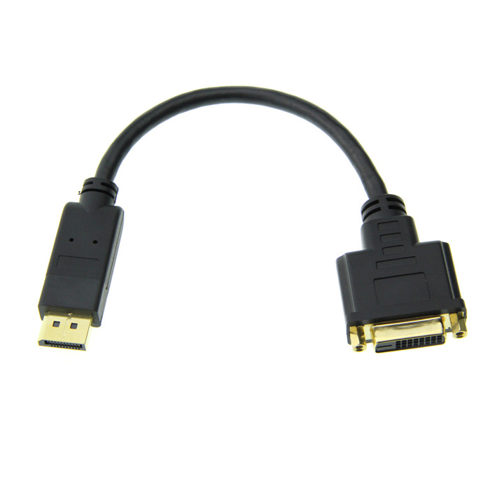DisplayPort Male to DVI 24+1 Female Adapter (10CM-Cable)