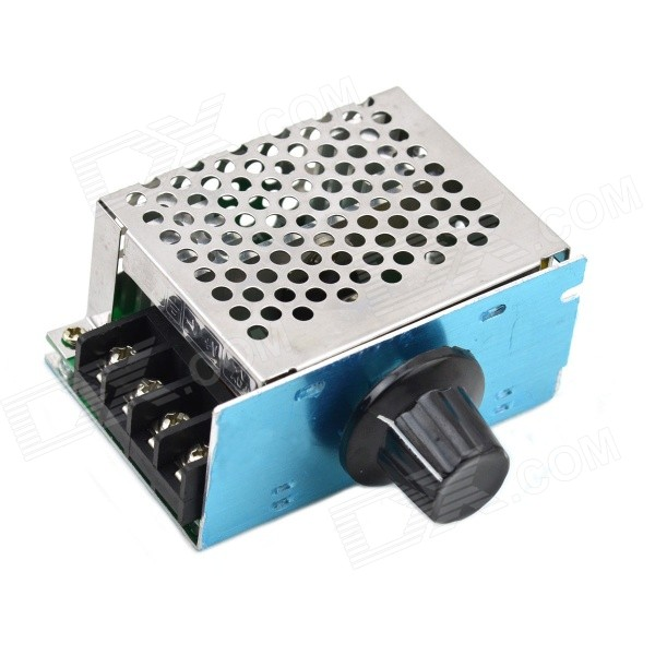 MaiTech 4000W High Power SCR Electronic AC 220V Voltage Regulator - Blue + Silver