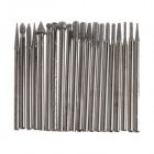 W11 2.3mm Multifunction Artificial Diamond Coated Grinding Burrs Set - Silver (20 PCS)