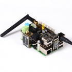 Supstronics X200 Expansion Board w / Adapter Set para Raspberry Pi Modelo B + - preto + colorido