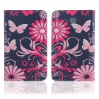 ENKAY Butterfly Pattern Protective Case w/ Stand for Samsung Galaxy Tab 3 Lite T110 - Multicolor