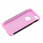 "Detachable Rhinestone Protective Plastic + Silicone Back Case for iphone 6 4.7"" - Black + Pink"