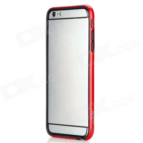 ROCK Protective TPU + PC Bumper Frame Case for IPHONE 6 PLUS 5.5- Red + Black проводной и dect телефон philips dctg792