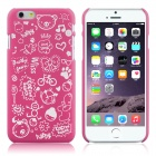 "Hat-Prince Cartoon Print Protective Matte Non-slip Case Cover for IPHONE 6 PLUS 5.5"" - Deep Pink"