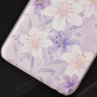 "Floral Pattern Protective PC Back Case for IPHONE 6 4.7"" / 6S - Light Purple + White"