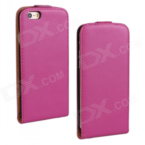 WB-55PL Protective Sheep Skin Top Flip-Open Case for IPHONE 6 PLUS 5.5 - Deep Pink