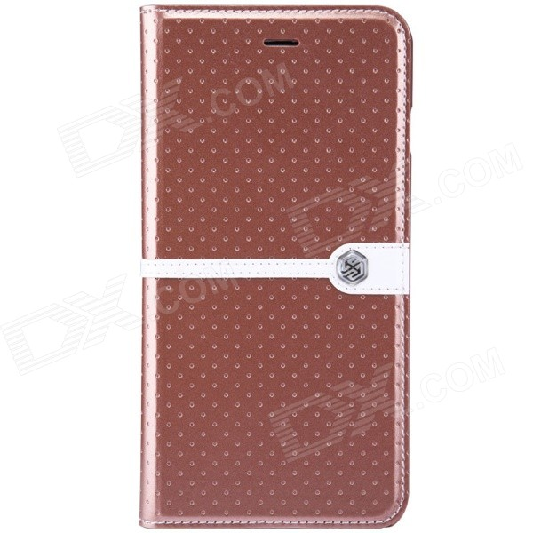 "NILLKIIN Ice Series Protective PU Leather Case w/ Auto Sleep for IPHONE 6 PLUS 5.5"" - Brown"