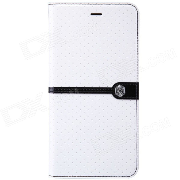 NILLKIIN Ice Series Protective PU Leather Case w/ Auto Sleep for IPHONE 6 PLUS 5.5 - White nillkin silk series protective pu leather pc case w auto sleep for iphone 6 plus 5 5 navy