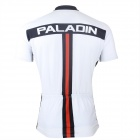 Paladinsport #4DX-S Patterned Short-sleeve Polyester Zipper Jersey for Cycling - White + Red (S)