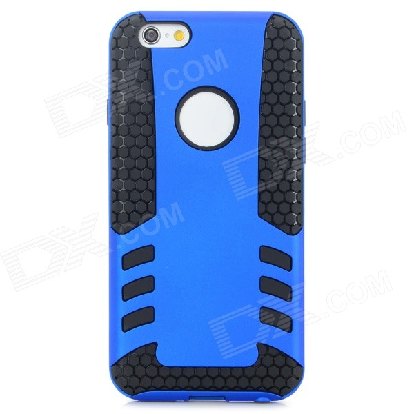 2-in-1 Protective PC + TPU Back Case for IPHONE 6 4.7 - Black + Blue angibabe 2 in 1 protective tpu pc back case for iphone 6 4 7 blue