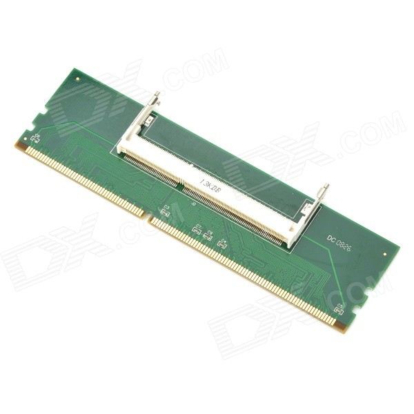 Laptop DDR3 Memory to Desktop DDR3 Memory Adapter Adapter Converter Card - Green ipc board pia 662 sent to the cpu memory used disassemble