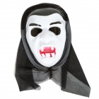 Halloween Cosplay Vampire Style Face Mask - White + Black