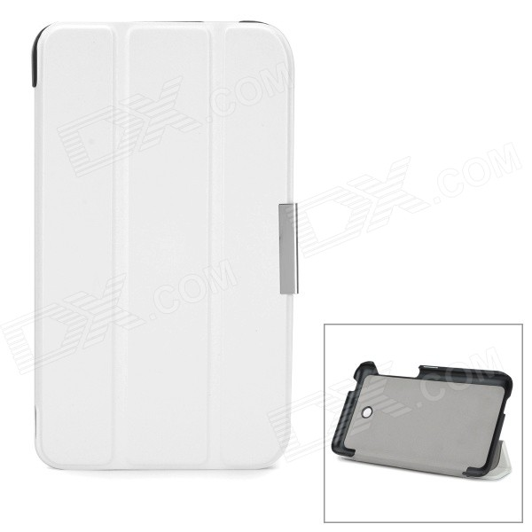 Protective PU + Microfiber Case w/ Stand for Asus Fonepad 7 / FE375CG - White
