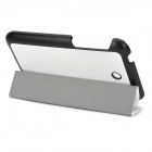 Protection PU + microfibre Case w / stand pour Asus Fonepad 7 / FE375CG - Blanc