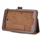 Protection PU + microfibre Case w / Stylet / Support pour Asus ME176CX - Brown