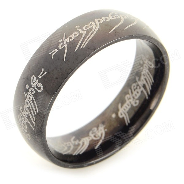 Ring-to-rule-them-all 316L Stainless Steel Ring - Black (Size 6.5) ring to rule them all 316l stainless steel ring black size 11 5