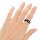 Ring-to-rule-them-all 316L Stainless Steel Ring - Black (Size 6.5)