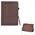 Protective PU + Microfiber Case w/ Stand / Stylus Pen for Asus Transformer Pad TF303CL - Brown