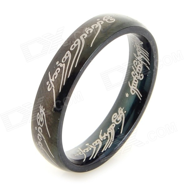 Ring-to-rule-them-all 316L Stainless Steel Ring - Black (Size 5.5) ring to rule them all 316l stainless steel ring black size 11 5