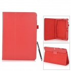 Protective PU + Microfiber Fall w / stand / Stift für Asus Transformer Pad TF303CL - Red