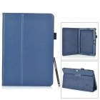 Protective PU + Microfiber Case w/ Stand / Stylus Pen for Asus Transformer Pad TF303CL - Deep Blue