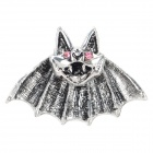 SHIYING H3114 Women's Bat Shaped Zinc Alloy Ear Studs - Antique Silver (Pair)