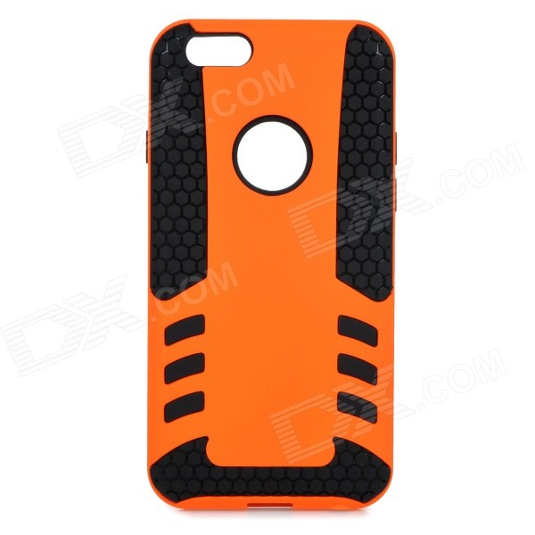 2-in-1 Protective PC + TPU Back Case Cover for IPHONE 6 4.7 - Black + Orange 2 in 1 detachable protective tpu pc back case cover for samsung galaxy note 4 black