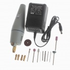 E12 17-in-1 PVC + Aluminum Alloy Electric Drill / Grinder Set - Silber
