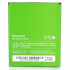 Coolpad CPLD-351 Replacement 3.8V 2000mAh Battery for Coolpad F2 / 8675 - Green