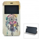 Windbell Pattern Flip-Open PU + ABS Case w / Stand / Card Slot / Ansichtsfenster für iPhone 6 PLUS 5.5 ""