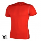 1987114 Running Cycling Sports Polyester + Spandex Tight Short-Sleeve T-shirt for Men - Red (XL)