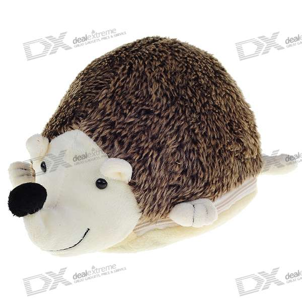 Cute Hedgehog Shaped 24-CD/DVD Protective Carrying Case (Color Assorted)