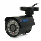 "YanSe YS-6624CFB 1/3"" CMOS 900TVL Digital CCTV Camera w/ 24-IR-LED - Black (NTSC)"
