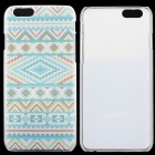 "Thin Hard Protective Back Cover Case for IPHONE 6  4.7""- Cyan + Multicolor"