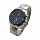 MIKE 8214 Men's Casual Steel Analog Quartz Wrist Watch - Black + Silver (1 x 626)